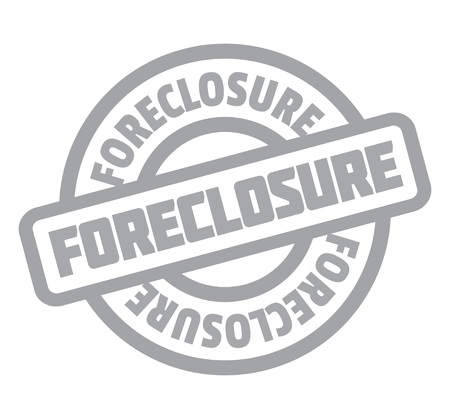 Foreclosure rubber stamp. Grunge design with dust scratches. Effects can be easily removed for a clean, crisp look. Color is easily changed. Illustration