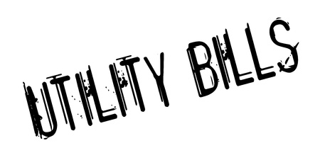 invoices: Utility Bills rubber stamp Illustration