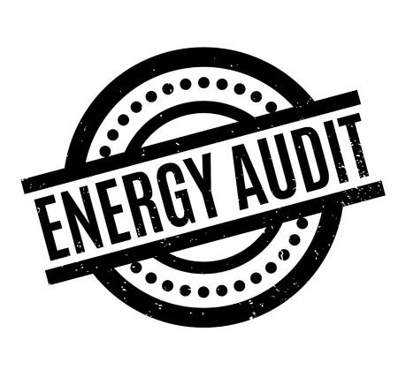 Energy Audit rubber stamp Illustration