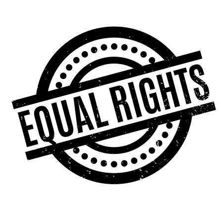 equal opportunity: Equal Rights rubber stamp Illustration