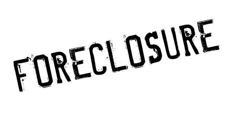 interruption: Foreclosure rubber stamp Illustration