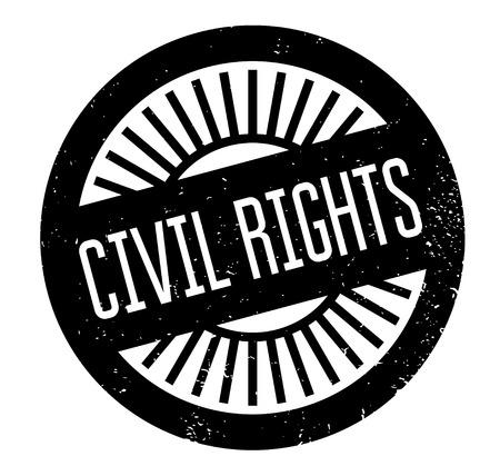Civil Rights rubber stamp Иллюстрация