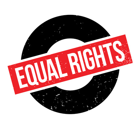 civil rights: Equal Rights rubber stamp Illustration