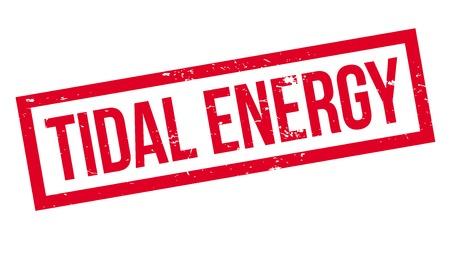 Gezeitenenergie Stempel Standard-Bild - 83800078