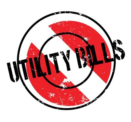 costs: Utility Bills rubber stamp Illustration