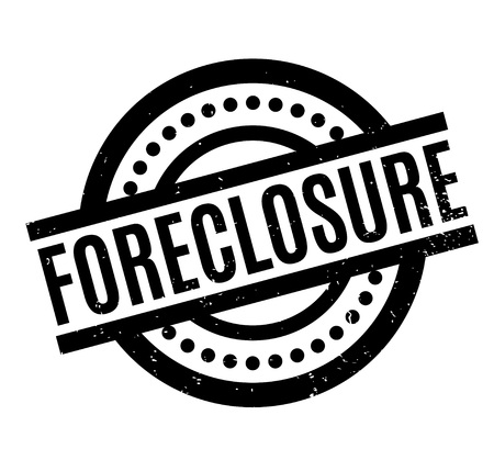obstruction: Foreclosure rubber stamp Illustration