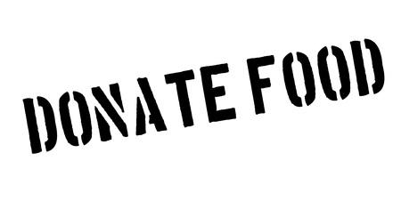 Donate Food rubber stamp vector illustration.