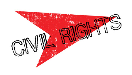 civil rights: Civil Rights rubber stamp Illustration
