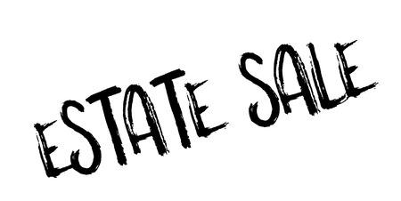 Estate Sale rubber stamp