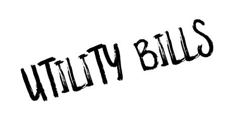 old telephone: Utility Bills rubber stamp Illustration