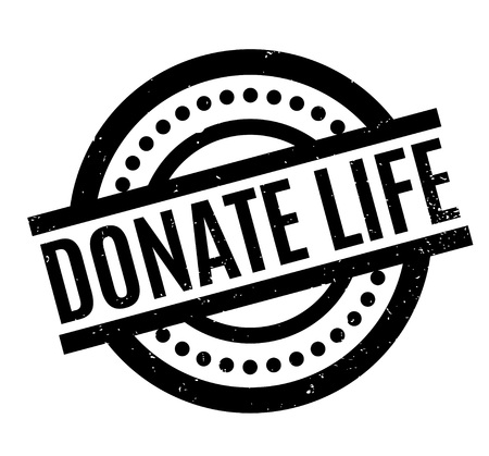 Donate Life rubber stamp