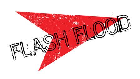 heavy rain: Flash Flood rubber stamp