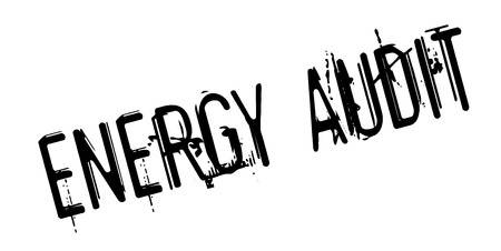 Energy Audit rubber stamp Illustration