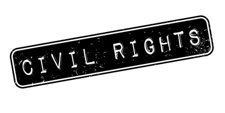civil rights: Civil Rights rubber stamp Illustration