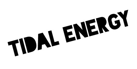 Tijdelijke Energie rubberen stempel