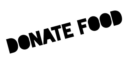 Donate Food rubber stamp