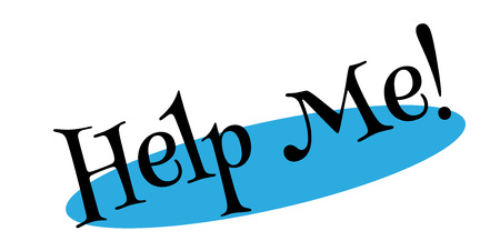 relieve: Help Me rubber stamp