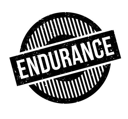 Endurance rubber stamp Stock Vector - 84007131