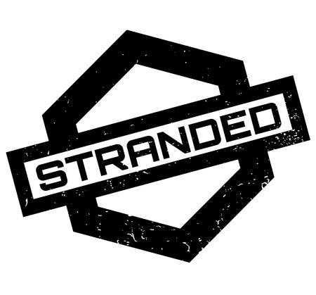 Stranded rubber stamp Imagens - 84007133
