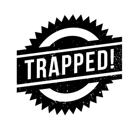 illustrative: Trapped rubber stamp