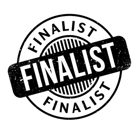 Finalist rubber stamp. Grunge design with dust scratches. Effects can be easily removed for a clean, crisp look. Color is easily changed.