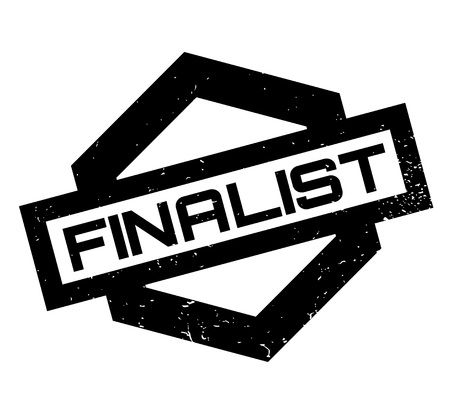 illustrative: Finalist rubber stamp. Grunge design with dust scratches. Effects can be easily removed for a clean, crisp look. Color is easily changed.
