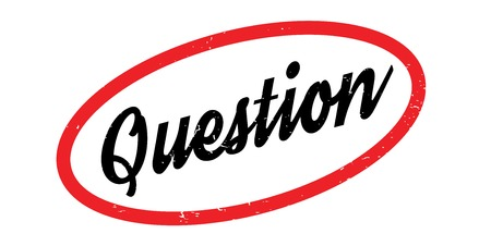finding out: Question rubber stamp. Grunge design with dust scratches. Effects can be easily removed for a clean, crisp look. Color is easily changed.