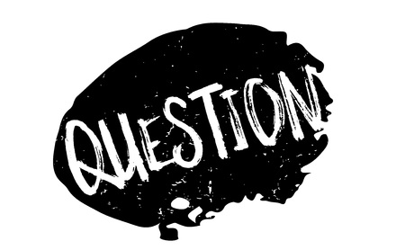 Question rubber stamp