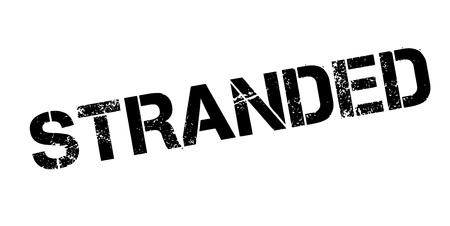 Stranded rubber stamp Imagens - 84014671