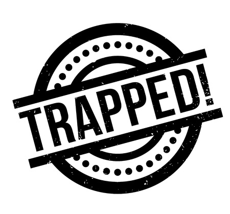 Trapped rubber stamp