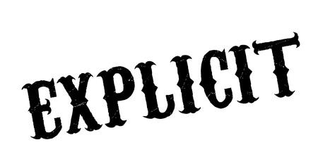 Explicit rubber stamp Ilustrace