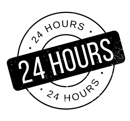 24 uur rubberen stempel