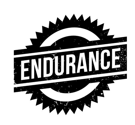 Endurance rubber stamp Stock Vector - 84015062