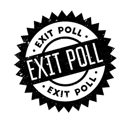 local elections: Exit Poll rubber stamp Illustration