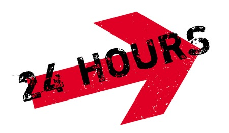 24 Hours rubber stamp