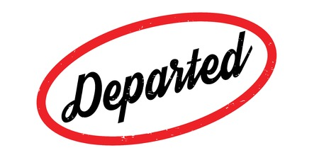 Departed rubber stamp