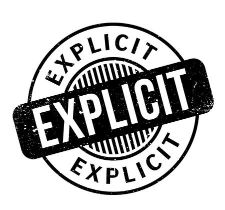 Explicit rubber stamp Illustration