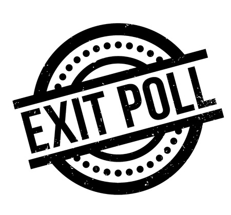 Exit Poll rubber stamp Illustration