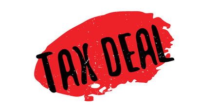Tax Deal rubber stamp Stock Photo