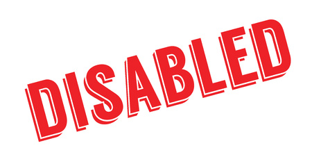 Disabled rubber stamp Stock Photo