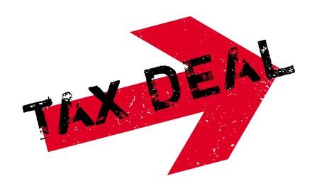 contaduria: Sello de goma del reparto de impuestos