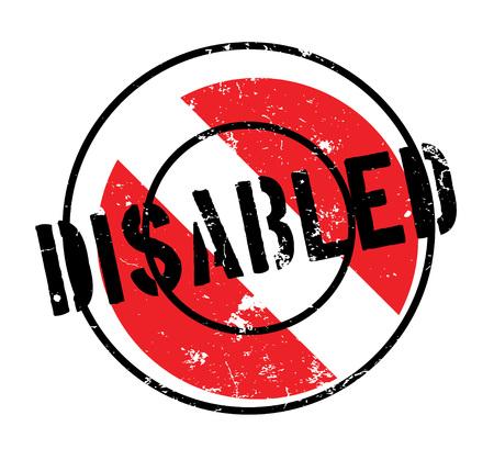 Disabled rubber stamp Illustration