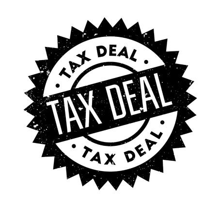 Tax Deal rubber stamp Illustration