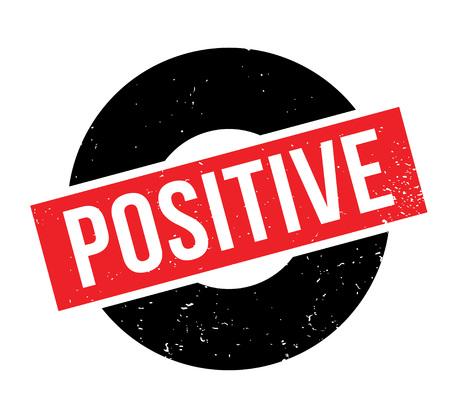 Positive rubber stamp Reklamní fotografie