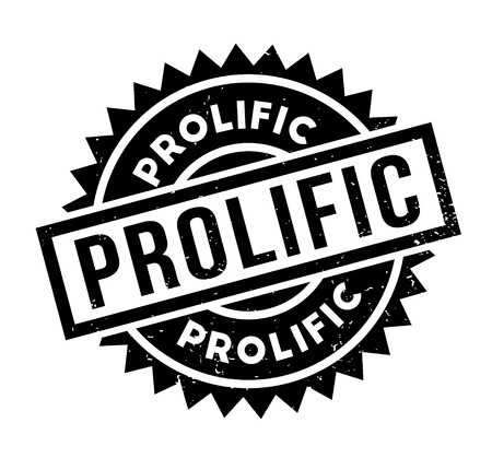 Prolific rubber stamp Stock Photo
