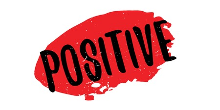 Positive rubber stamp Stock Photo