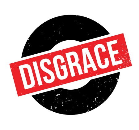 Disgrace rubber stamp Imagens - 84083057