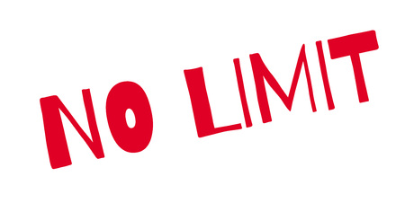 unrestricted: No Limit rubber stamp