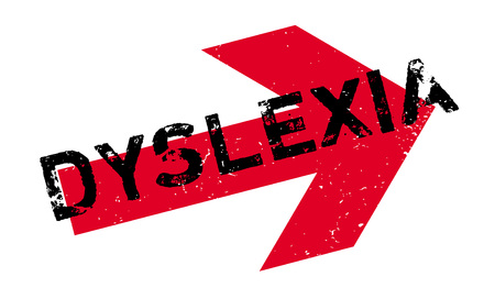 dyslexia: Dyslexia rubber stamp