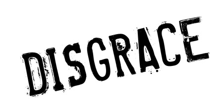 Timbro di gomma Disgrace Archivio Fotografico - 84083075